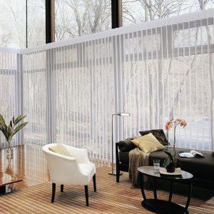 mc.c2 Hunter Douglas vertical blinds for living room