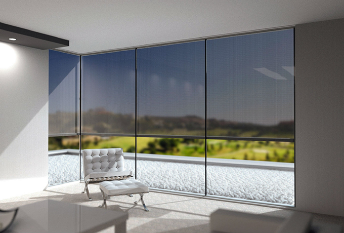 Renson Panovista for glass on glass corner window
